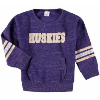 Colosseum コロセウム スポーツ用品 Colosseum Washington Huskies Toddler Girls Purple Roque Fleece Crew Sweater