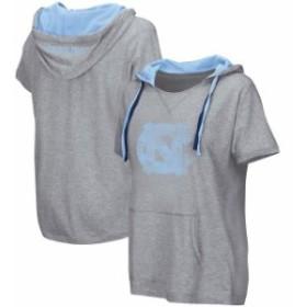 Colosseum コロセウム スポーツ用品  Colosseum North Carolina Tar Heels Womens Heathered Gray Woopah Hooded T-Shirt