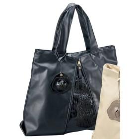 30%OFFコサージュ付き変形やわらかバッグ(フォーマル・卒業式・入学式) - セシール ■カラー:ブラック