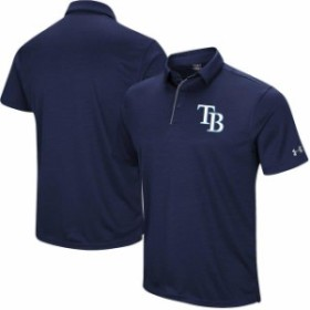 Under Armour アンダー アーマー シャツ ポロシャツ Under Armour Tampa Bay Rays Navy UA Tech Left Chest Polo