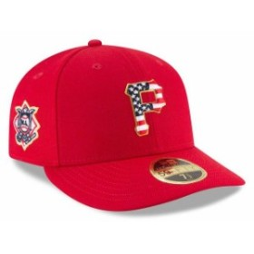 New Era ニュー エラ 服  New Era Pittsburgh Pirates Red 2018 Stars & Stripes 4th of July On-Field Low Profile 59FIFTY Fitte