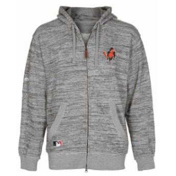 Majestic マジェスティック スポーツ用品  Majestic Baltimore Orioles Heather Gray Authentic Collection Clubhouse Ful