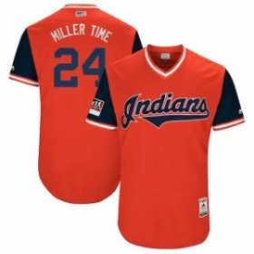 Majestic マジェスティック スポーツ用品  Majestic Andrew Miller Miller Time Cleveland Indians Red/Navy 2018 Players