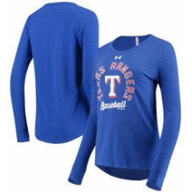 Under Armour アンダー アーマー スポーツ用品  Under Armour Texas Rangers Womens Royal Charged Long Sleeve T-Shirt