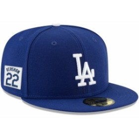 New Era ニュー エラ スポーツ用品  New Era Clayton Kershaw Los Angeles Dodgers Royal Player Patch 59FIFTY Fitted Hat