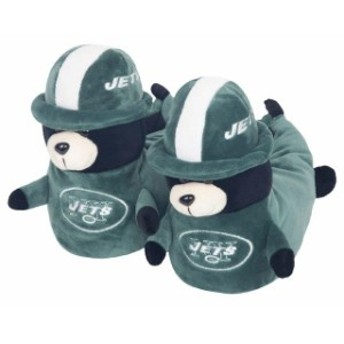 Forever Collectibles フォーエバー コレクティブル シューズ スリッパ New York Jets Youth 3D Mascot Slippers