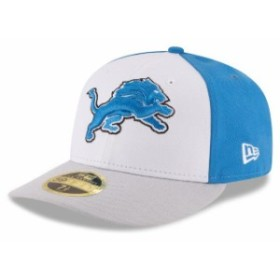 New Era ニュー エラ スポーツ用品  New Era Detroit Lions White/Silver Front N Center Low Profile 59FIFTY Fitted Hat