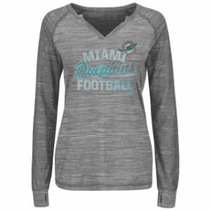 トップス マジェスティック レディース Majestic Womens 2019 Spring Training Cactus League Map V-Neck T-Shirt Gray Tシャツ