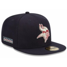 New Era ニュー エラ スポーツ用品  New Era Minnesota Vikings Navy Crafted in the USA 59FIFTY Fitted Hat