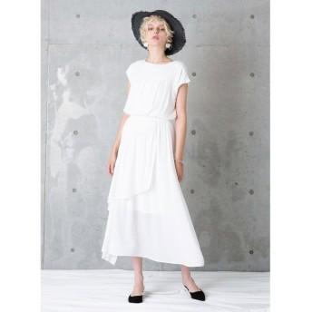 【50%OFF】 ミエリインヴァリアント Gather Curtain Dress レディース ホワイト F(フリーサイズ) 【MIELIINVARIANT】 【セール開催中】