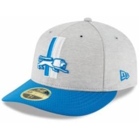 New Era ニュー エラ スポーツ用品  New Era Detroit Lions Heather Gray/Blue 2018 NFL Sideline Home Historic Low Profile
