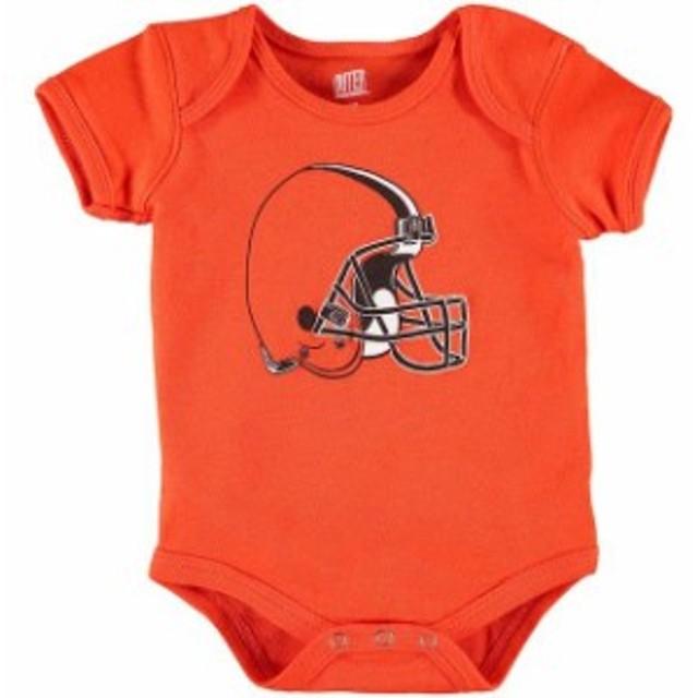 Outerstuff アウタースタッフ スポーツ用品  Cleveland Browns Newborn Orange Team Logo Bodysuit