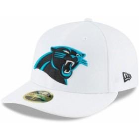 New Era ニュー エラ スポーツ用品  New Era Carolina Panthers White Omaha Low Profile 59FIFTY Fitted Hat