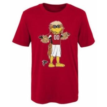 Outerstuff アウタースタッフ スポーツ用品 Atlanta Falcons Preschool Red Standing Mascot T-Shirt