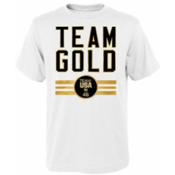 Outerstuff アウタースタッフ スポーツ用品 Team USA White Team Gold Medal T-Shirt