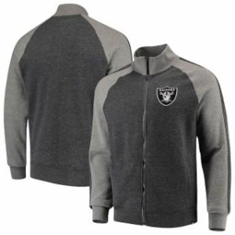 47 フォーティーセブン アウターウェア ジャケット/アウター 47 Oakland Raiders Heathered Black Match Ragla