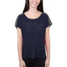 Majestic マジェスティック スポーツ用品  Majestic Seattle Seahawks Womens College Navy Play For Me T-Shirt