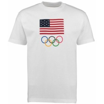 Outerstuff アウタースタッフ スポーツ用品 USA Olympics White Flag Five Rings T-Shirt