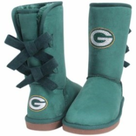 Cuce クーチェ スポーツ用品  Cuce Green Bay Packers Womens Green Patron Bow Boots