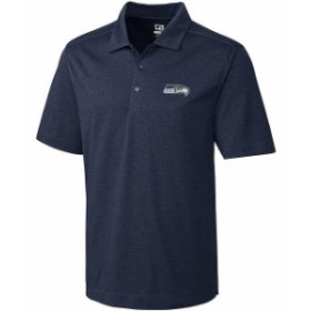 Cutter & Buck カッター アンド バック シャツ ポロシャツ Cutter & Buck Seattle Seahawks Navy Chelan DryTec Polo