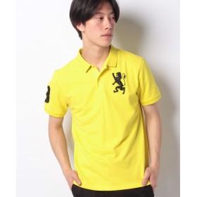 ジョルダーノ [GIORDANO]3Dライオン刺繍ポロシャツ ユニセックス イエロー S 【GIORDANO】