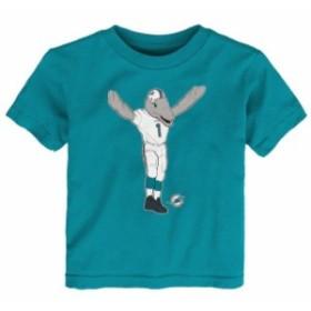 Outerstuff アウタースタッフ スポーツ用品  Miami Dolphins Toddler Aqua Standing Team Mascot T-Shirt