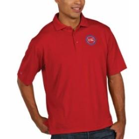 Antigua アンティグア スポーツ用品  Antigua Detroit Pistons Red Pique Xtra Lite Big & Tall Polo