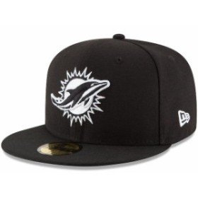 New Era ニュー エラ スポーツ用品  New Era Miami Dolphins Black B-Dub 59FIFTY Fitted Hat