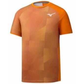 mizuno ミズノ テニス&その他のラケット競技 男性用ウェア Tシャツ mizuno shadow-graphic