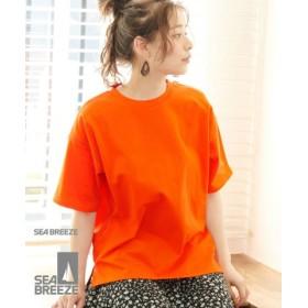 (ROPE' PICNIC/ロペピクニック)【SEABREEZE×ROPE' PICNIC】カラーTシャツ/レディース オレンジ系(71)