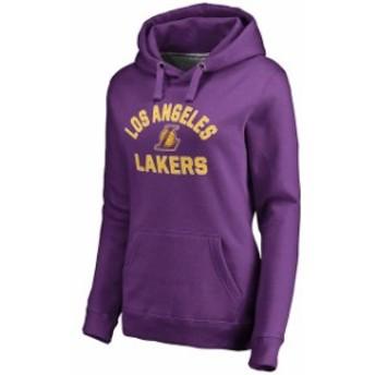 Fanatics Branded ファナティクス ブランド スポーツ用品  Los Angeles Lakers Womens Purple Overtime Pullover Hoodi