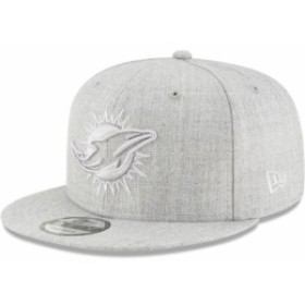 New Era ニュー エラ スポーツ用品  New Era Miami Dolphins Gray Twisted Frame 9FIFTY Adjustable Snapback Hat
