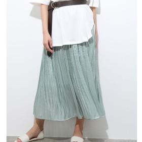 [マルイ]【セール】シャイニーサテンフェードアウトプリーツスカート/ビス(ViS)