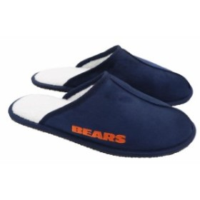 Forever Collectibles フォーエバー コレクティブル スポーツ用品  Chicago Bears Wordmark Open Back Moccasin Slip