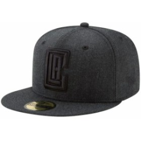 New Era ニュー エラ スポーツ用品  New Era LA Clippers Heathered Black Total Tone 59FIFTY Fitted Hat