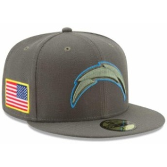 New Era ニュー エラ スポーツ用品 New Era Los Angeles Chargers Youth Olive 2017 Salute To Service 59FIFTY Fitted Hat