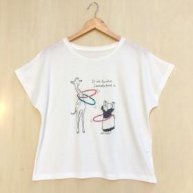 ☆送料無料☆ドルマンスリーブTシャツ「フラフープ!」