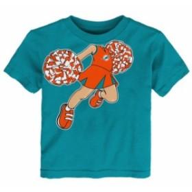 Outerstuff アウタースタッフ スポーツ用品  Miami Dolphins Girls Infant Aqua Pom Pom Cheer T-Shirt