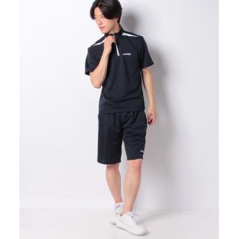 マルカワ ケイパ ドライ ワッフル ハーフジップ 半袖 上下セット メンズ ネイビー M 【MARUKAWA】