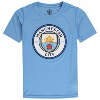 Outerstuff アウタースタッフ スポーツ用品 Manchester City Youth Light Blue Performance Primary Logo T-Shirt