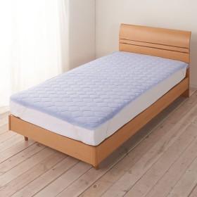 2段ベッド用(アイスコットンシリーズ 敷きパッド)ブルー