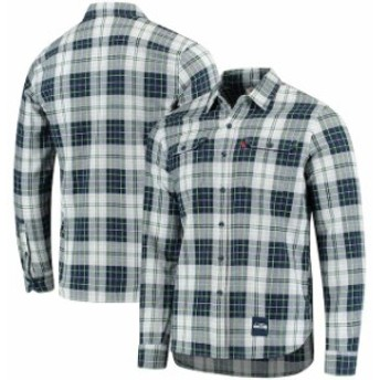 Levis リーバイス シャツ ポロシャツ Levis Seattle Seahawks College Navy/Neon Green Gridiron Plaid Button-Up Long Sle