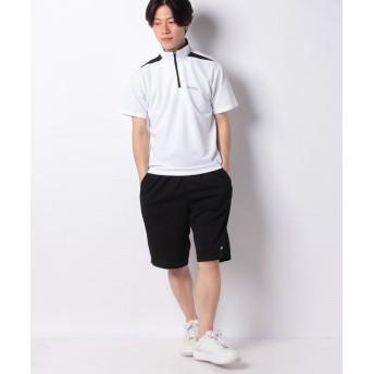 マルカワ ケイパ ドライ ワッフル ハーフジップ 半袖 上下セット メンズ ホワイト L 【MARUKAWA】