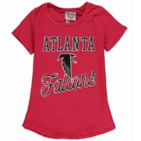 Junk Food ジャンク フード スポーツ用品  Junk Food Atlanta Falcons Girls Youth Red Script T-Shirt