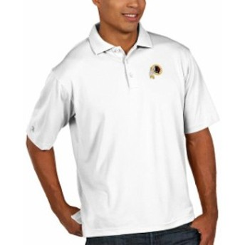 Antigua アンティグア シャツ ポロシャツ Antigua Washington Redskins White Pique Xtra Lite Big & Tall Polo