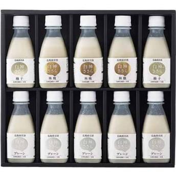 <白神手づくり工房>乳酸菌甘酒「白神ささら」セットSS-35 ジュース・飲料