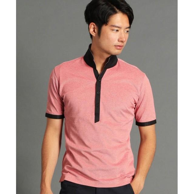 ニコルクラブフォーメン イタリアンカラーポロシャツ メンズ 01レッド 48(L) 【NICOLE CLUB FOR MEN】