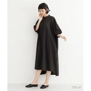 メルロー ノーカラービッグシルエットワンピース レディース ブラック FREE 【merlot】