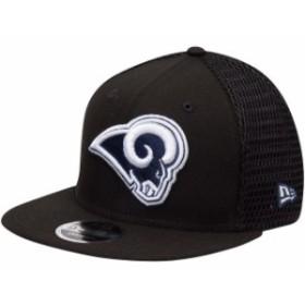 New Era ニュー エラ スポーツ用品  New Era Los Angeles Rams Black Mesh Fresh 9FIFTY Adjustable Hat
