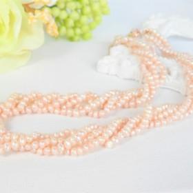 入手困難!【本物・高品質・真珠】ピンク ベビーパール の 3連ネックレス